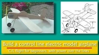 Electric Control Line model aircraft.