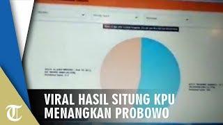 Viral Video Situng KPU Sempat Menangkan Paslon Nomor Urut 02, 53,97 Persen Kamis (25/4)