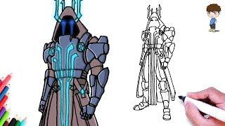 How To Draw Fortnite Skins Easy Ice King म फ त ऑनल इन