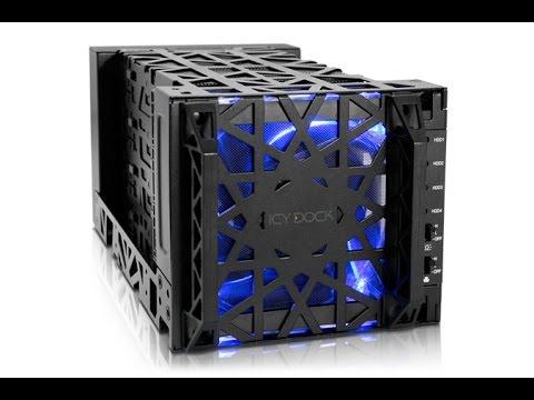 """✅ICY DOCK Black Vortex MB174U3S-4SB 3.5"""" USB 3.0/eSata HDD Enclosure Review"""