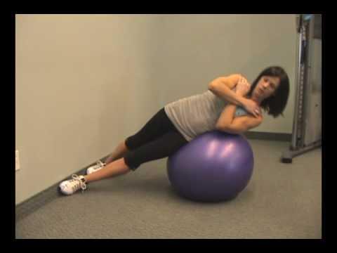 www.FitnessPTO.com - Stability Ball Side Bend