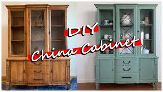 DIY CHALK PAINT CHINA CABINET