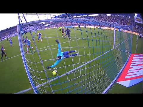 Odense BK Goal Keeper makes miraculous save!