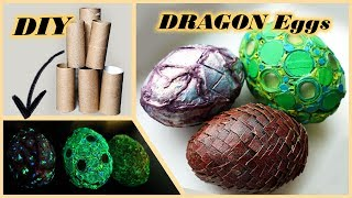 DIY Glowing DRAGON Eggs | Easter Eggs With Candies | Glow In The Dark Crafts