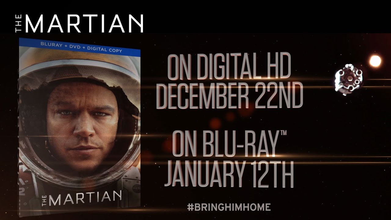 The Martian On Digital HD and Blu-ray