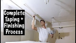 COMPLETE DRYWALL TAPING PROCESS FOR REMODELS