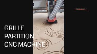 Woodworking CNC Router Make Grille Partition for Interior Decoration