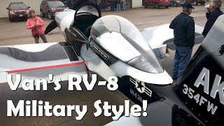 RV Aircraft Video - Van's RV-8 - Military Style!