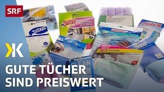 Mikrofaser-Reinigungstücher im Test: Günstig geht auch | 2020 | SRF Kassensturz