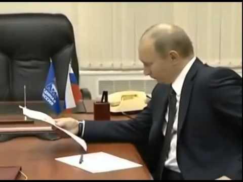 Ветераны передали записку   Путин Хуйло