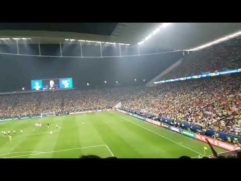Timão EÔ e vaias a palmeirense: Arena tem clima de Corinthians em noite de Copa América!