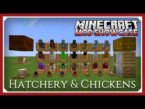 Minecraft Hatchery & Chickens Mod Showcase Tutorial