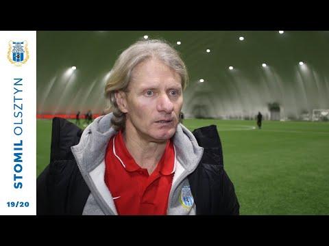 Piotr Zajączkowski po meczu Żalgiris Wilno - Stomil Olsztyn
