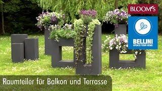 Raumteiler für Balkon und Terrasse | DIY Sommerdeko | summer decoration | BLOOM's Floristik