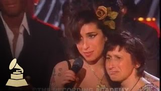 Amy Winehouse - Accepting Record Of The Year At The 50th GRAMMY Awards | GRAMMYs