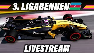 F1 2017 Ligarennen Livestream Deutsch - Baku, Aserbaidschan GP (Rapid Racers League) Gameplay German