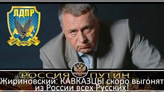Жириновский׃ КАВКАЗЦЫ скоро выгонят из России всех Русских!