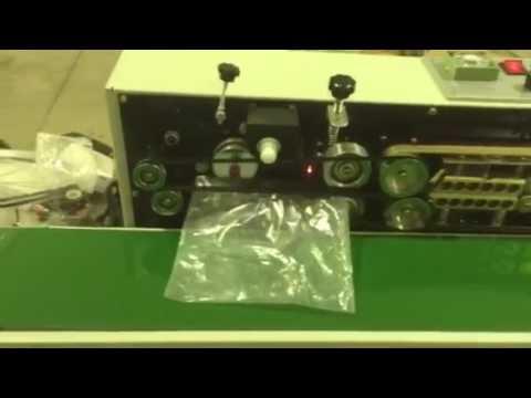 Selladora De Bolsas Continua con Impresora de códigos