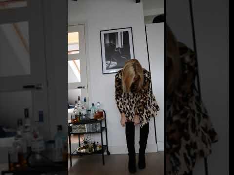 Panter blouse jurk