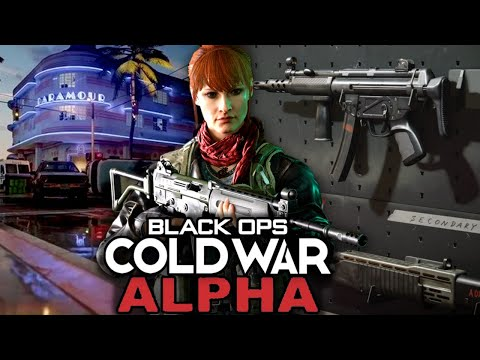 This is The Call of Duty Black Ops Cold War Alpha…