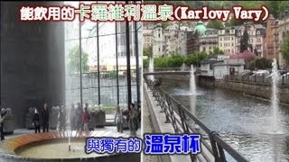preview picture of video '捷克 能飲用的卡羅維利溫泉(Karlovy Vary)與獨有溫泉杯(上)'