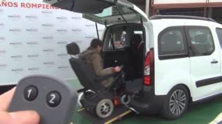 Peugeot Partner automatizada para acceso en silla de ruedas