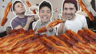 200 PIECES OF BACON In 10 MIN CHALLENGE!