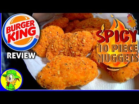 Burger King® | Spicy 10-Piece Nuggets Review! 👑🔥🐔