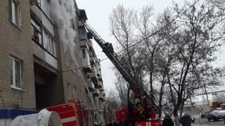 Пожар в Саратове 11.01.2017