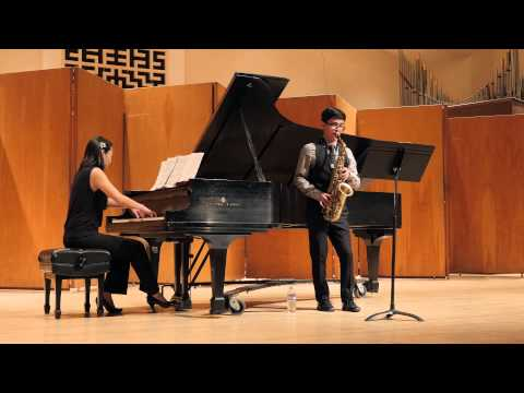 Anthony playing Robert Schumann's First Romance, with Elizabeth Chang, piano.