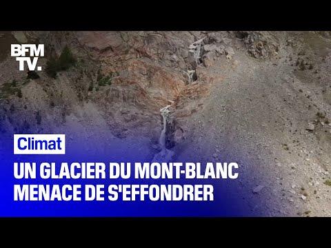 Un glacier du Mont-Blanc menace de s'effondrer côté italien Un glacier du Mont-Blanc menace de s'effondrer côté italien