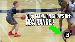 Nico Mannion Shows Off His NBA RANGE! Earl Watson Elite vs The Truth