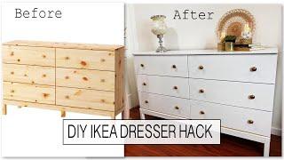 DIY Ikea Dresser Hack | TARVA Dresser Makeover