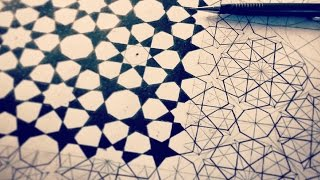 HOW To Draw Islamic Geometric Patterns ✸  8 Fold Rozette Tiling