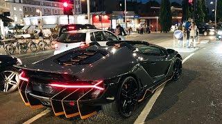 $5MILLION Lamborghini Centenario Roadster CAUSES CHAOS in London!