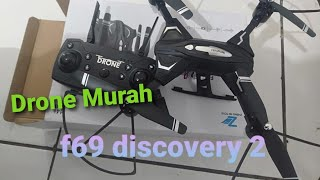 Drone murah f69 discovery 2 sudah kamera / rc drone / hoby rc