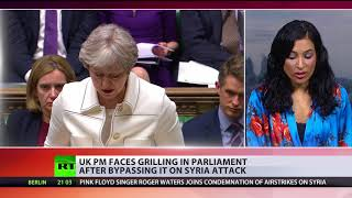 'Accountable to whims of Trump': May faces grilling in Parliament after bypassing it on Syria attack - Video Youtube