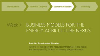 MOOC Week 7: Business Models