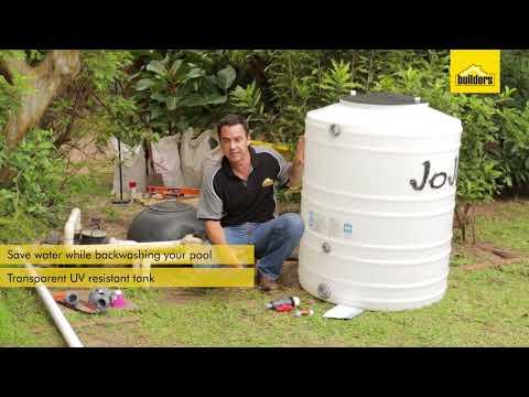 Jojo Backwash Water Saver Tank White 500l Pools Waterwise Bathroom Save Water Solutions
