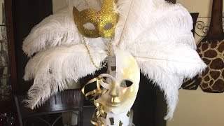 How To Make A Feather Mask Centerpiece