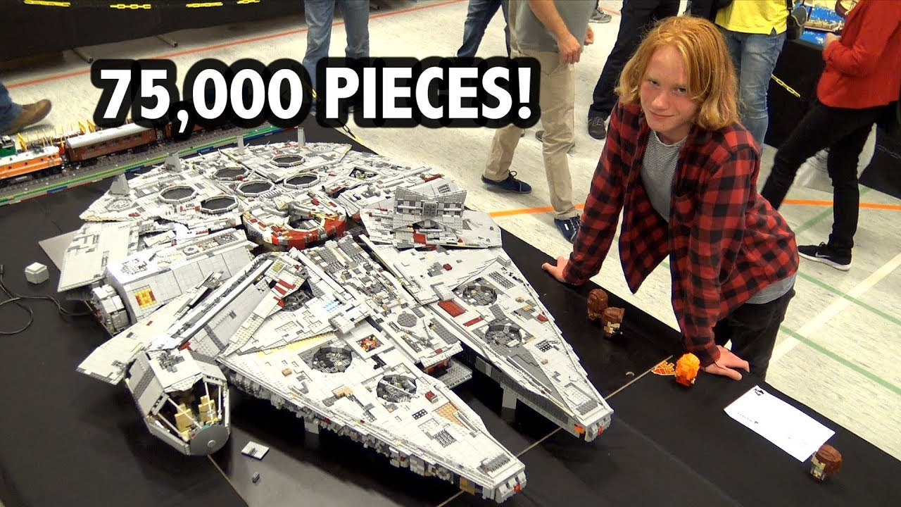 Giant LEGO Millennium Falcon with Interior! Custom Star Wars