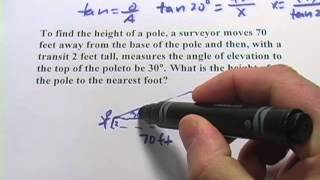 Trigonometry Word Problems