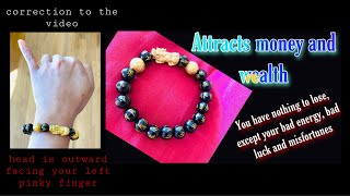 Feng Shui Black Obsidian Wealth Bracelet   How To Wear It And Its Power Of Attraction