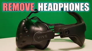 Deluxe Audio Strap: How to Remove Headphones | Step-by-Step HTC Vive Tutorial