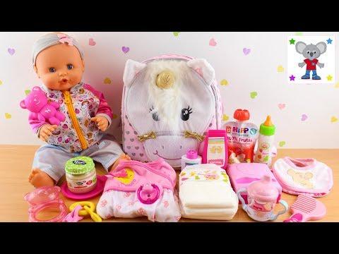 Que llevo en la PAÑALERA o Bolso Cambiador de Unicornio de mi Bebé NENUCO Emma para ir de Viaje