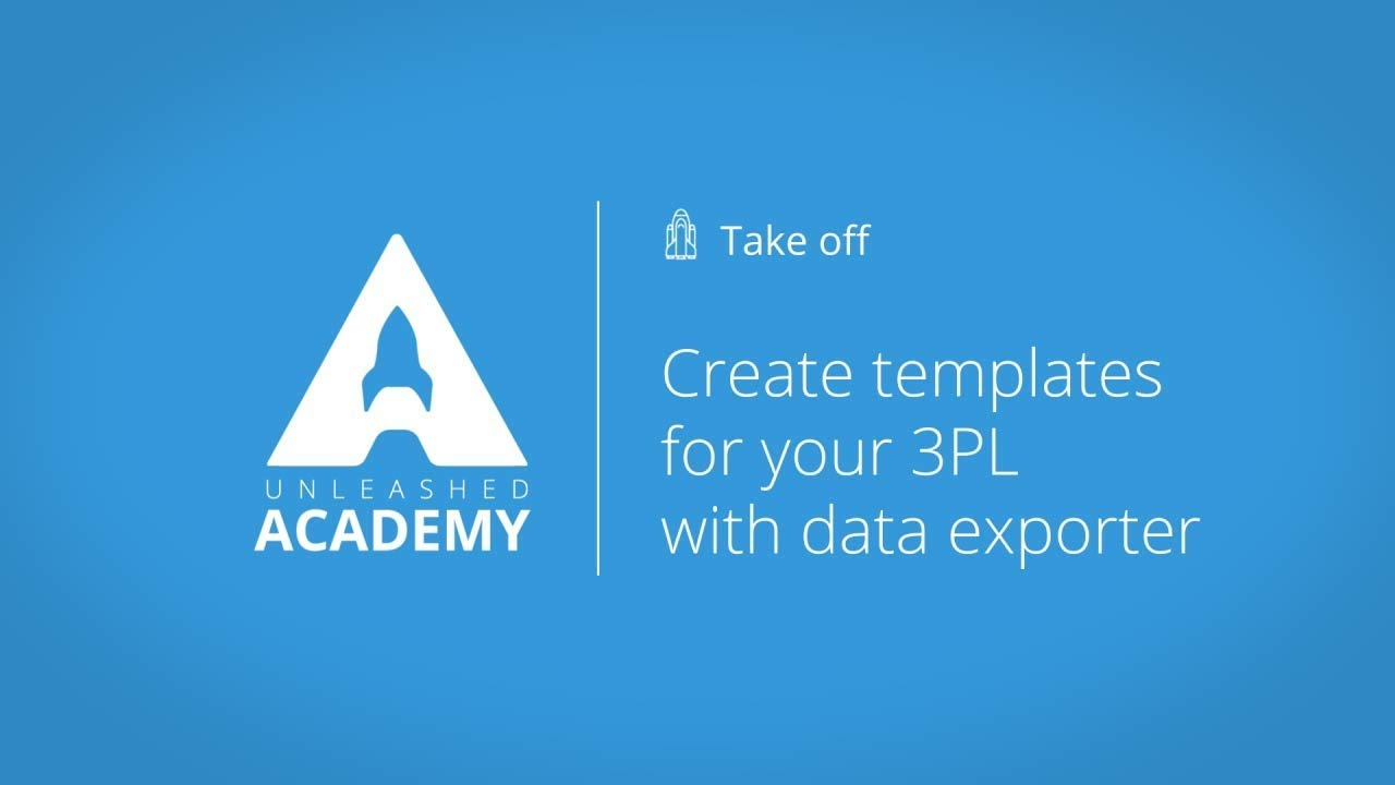 Create templates for your 3PL with data exporter YouTube thumbnail image