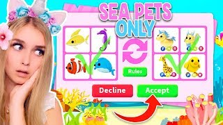 Trading The NEW *SEA PETS* ONLY In Adopt Me! (Roblox)