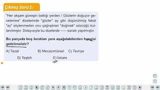 Eğitim Vadisi AYT Edebiyat 5.Föy Şiir 1 Konu Anlatım Videoları