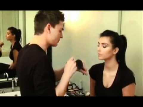 kim kardashian's makeup with Mario-full length