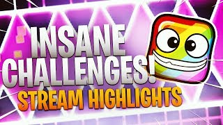INSANE CHALLENGES!! - Geometry Dash Highlights - Tosh